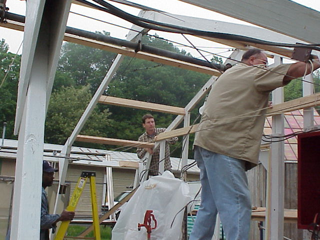 Greenhouse restoration for landmark dedication