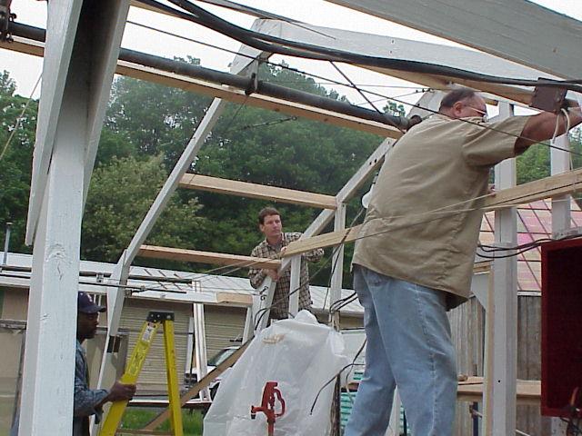 Greenhouse restoration for landmark dedication