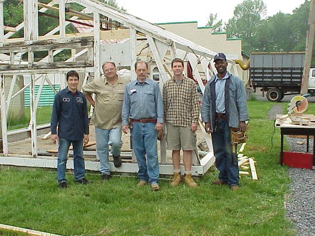Greenhouse restoration for landmark dedicatio