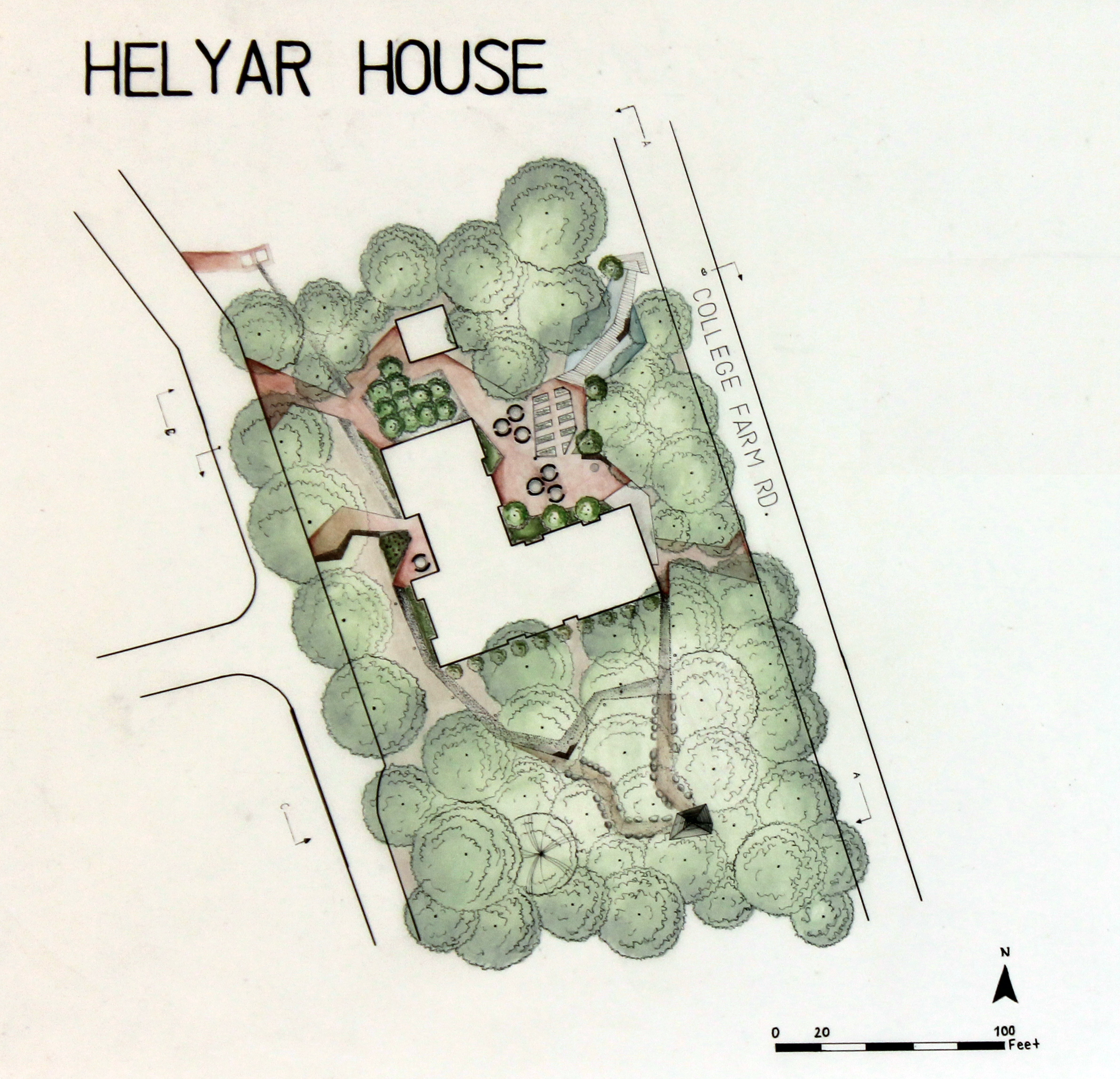 landscape architecture students propose designs for helyar house