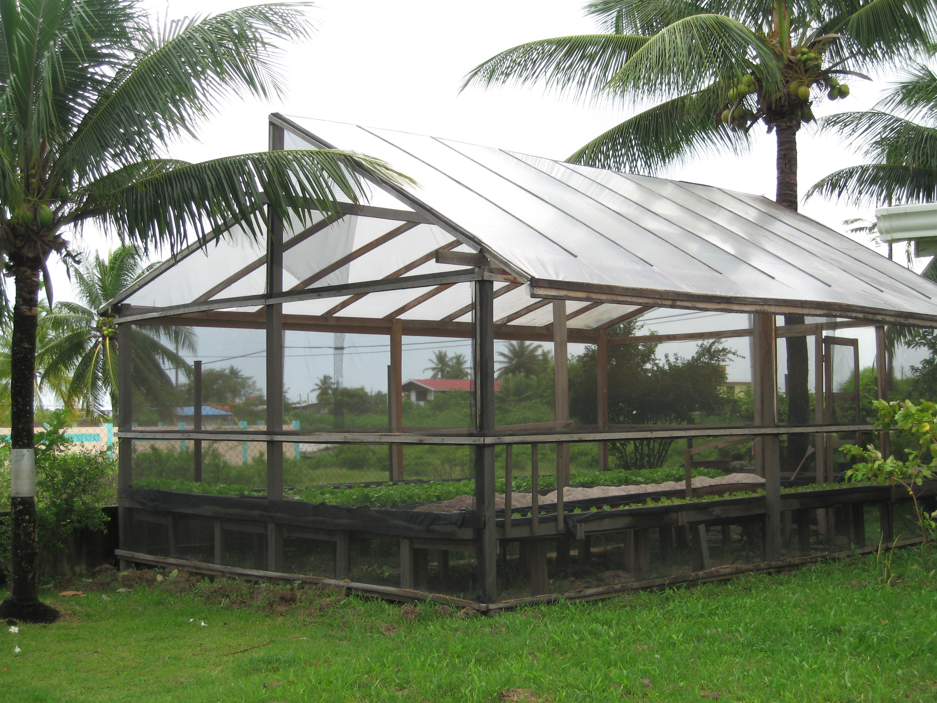Shadehouse Design used in Hydroponic Vegetables Pilot Project