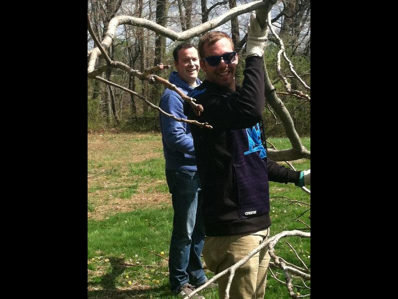 Rutgers Gardens Twig Arbor