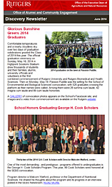 Discovery Newsletter from the Office of Alumni and Community Engagement