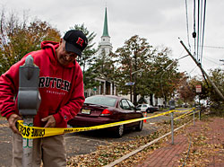 Photo: Rutgers staff after Hurricane Sandy.