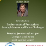 "USEPA presents ""Environmental Protection: Accomplishments and Future Challenges"" on Jan. 29"