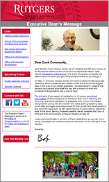 Picture of Executive Dean's Message newsletter