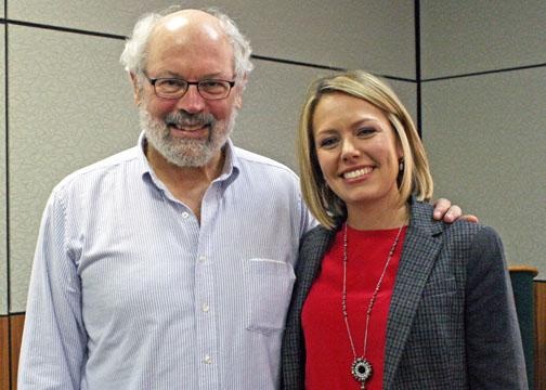 Dylan Dreyer with Alan Robock, professor in the Department of ...