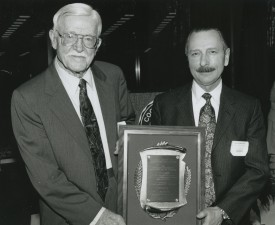 Professor Paul Sturkie at Brinster's GH Cook Distinguished Alumni Award ceremony.