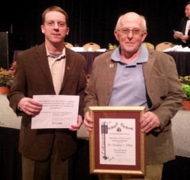 Andy Wyenandt, (left) and Wes Kline are the two Extension faculty members who received awards at the 2014 New Jersey Agriculture Convention in Atlantic City.
