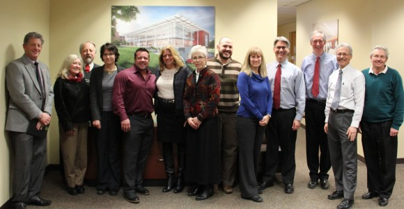 L-R: Larry Katz; Carol Byrd-Bredbenner; John Worobey; Dena Seidel; Shawn Arent; Peggy Policastro; Melodee Lasky; Michael Rogers; Tracy Anthony; Daniel Hoffman; Peter Gillies; Roger Grillo; and George Carman.