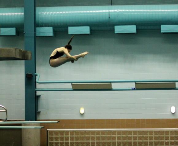 Rutgers diver Nicole Scott