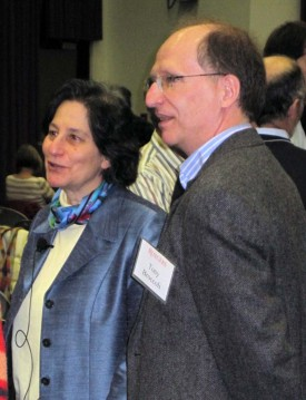"Tony with MIT Professor Susan Solomon. Tony hosted Susan when she visited SEBS in February 2011 to deliver the Executive Dean's Distinguished Lecture on ""Climate: A World of Change."" Susan and Tony were both members of the Intergovernmental Panel on Climate Change."