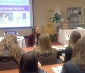 Students participate in the Ag Issues Forum at the Summit.