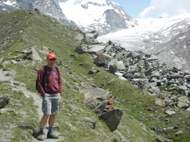 Ever the outdoorsmen, Tony hiked the trail in the Swiss Alps above Zermatt this past summer.