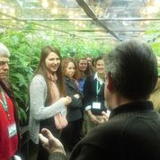 4-H members attending the Youth Agri-Science Summit visited University of Maryland College of Agriculture and Natural Resources where they took a tour of the Research Greenhouse.