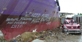 Storm surge damage in Tacloban, Philippines
