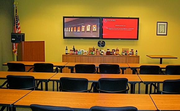 Main presentation room at the Rutgers Food Innovation Center in Bridgeton, NJ.