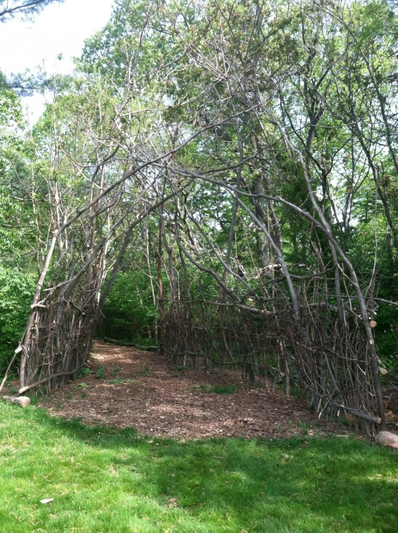 students create twig arbor picnic area at rutgers gardens newsroom