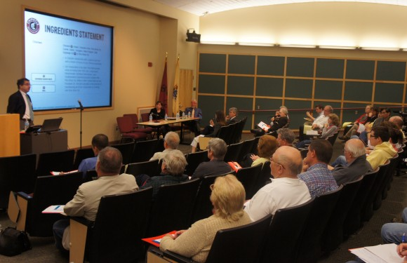 """GMOs: Questions and Answers for New Jersey Farmers"" was held on May 9 at the Rutgers EcoComplex."