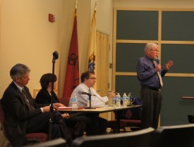(L-R): Hillman, Cuite, Jaffe and Goodman participated in a Q & A session.