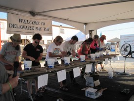 The New Jersey Championship Oyster Shucking Competition at Bay Day.