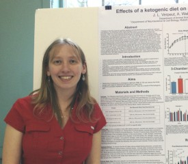 Jessica Verpeut with her award-winning poster.