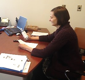 Rutgers professor Rachel Schwom conducts interviews with emergency managers of coastal towns as part of the NJ Sea Grant risk communication study.