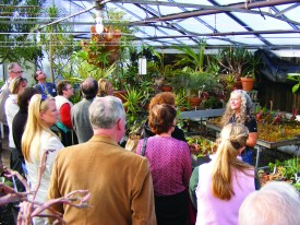 Rutgers Research Farm Supervisor Nicki Graf leads a Floriculture Greenhouse tour.