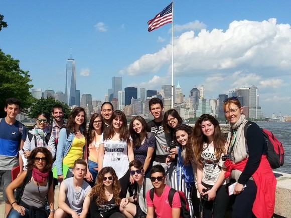 Youth from Sicily, Italy visit Ellis Island and learn about the history of immigration to the U.S.