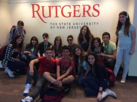Youth visit Rutgers Newark where they learned about urban heat islands and climate change.