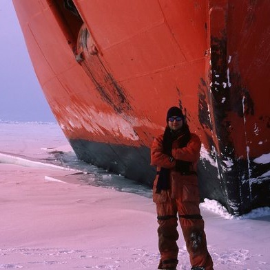 Enrique Curchitser on an expedition on the Ross Sea in 2003.