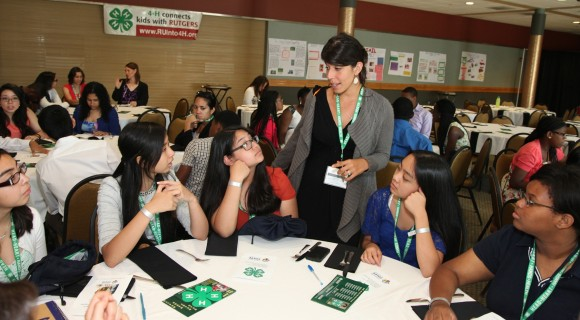 Participants enjoy the closing luncheon of the sixth annual Rutgers Summer Science Program.