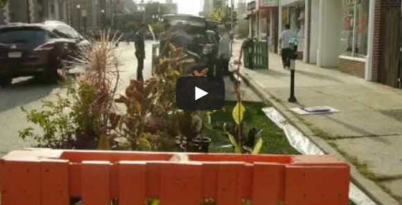 Video: Rutgers Students Help Transform Part of Downtown New Brunswick in PARK(ing) Day 2014 Celebration