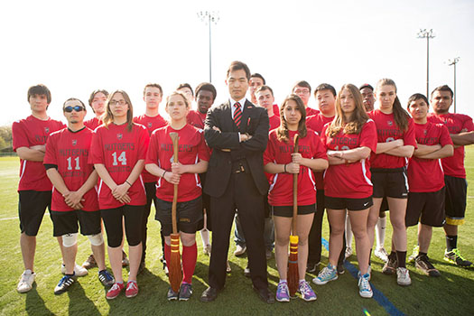 Rutgers Quidditch team, known as the Nearly Headless Knights.