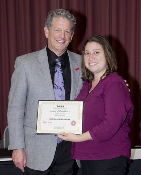 Marycarmen Kunicki received the Extension Award of Excellence for a Program Associate.