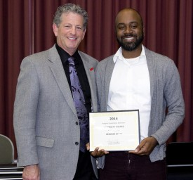RCE Director Larry Katz (l) awards Kendrin Dyitt