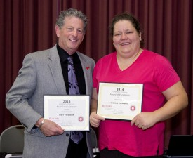 Staci Peterson accepted the Volunteer Excellence Awards on behalf of her and her husband Matt.