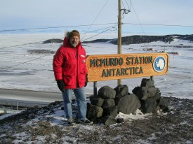 Alan Robock in the field at the Alan McMurdo Station, Antarctica.