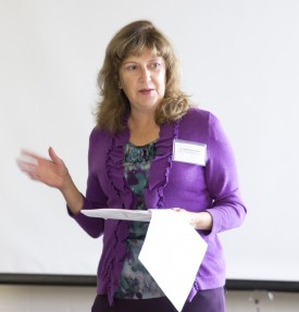 "Robin Brumfield, RCE extension specialist in farm management, conducted a ""Market-to-Market"" workbook session that led to a the draft marketing plan for the farm women."