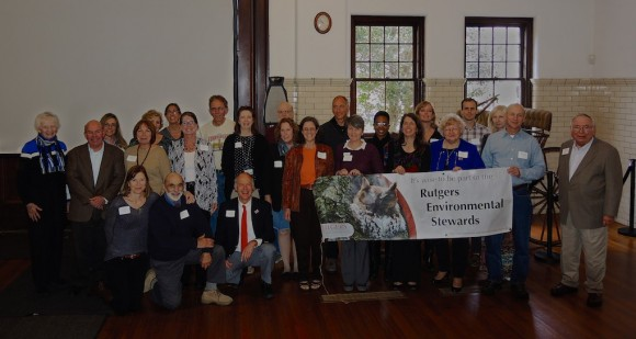 Participants at the 2014 Commencement and Colloquium of the Rutgers Environmental Stewards held in the Coach Barn at Duke Farms, Hillsborough, NJ