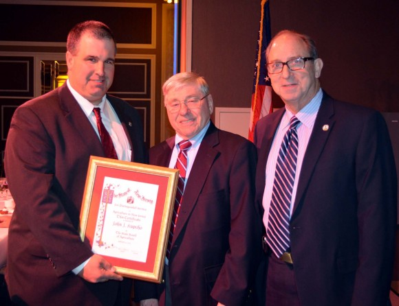 L-R: Richard Norz, President of the NJ State Board of Agriculture, John Kupcho and NJ Secretary of Agriculture Douglas H. Fisher.