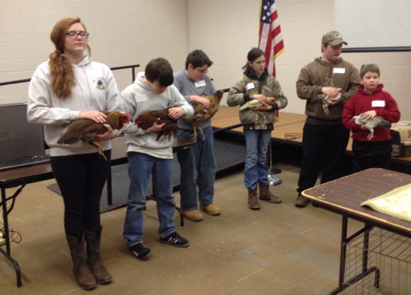 4-H members participating in the Avian Bowl.