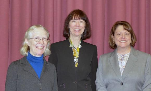 L-R: The 2015 Dennis Fenton Distinguished Graduate Alumni winners are Cynthia Rosenzweig, Jennie Hunter-Cevera and Margaret Brennan-Tonetta.