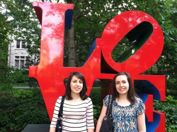 The next stop on the Davis twins' academic journey is U of P in Philadelphia. Julianne Davis  (l) and Caroline Davis (r).