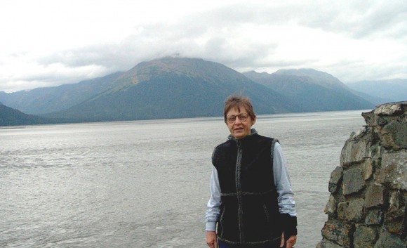 Eleanor Bochenek on a research trip to Alaska.