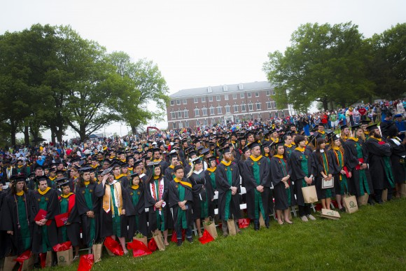 Class of 2015 graduates at SEBS Convocation.