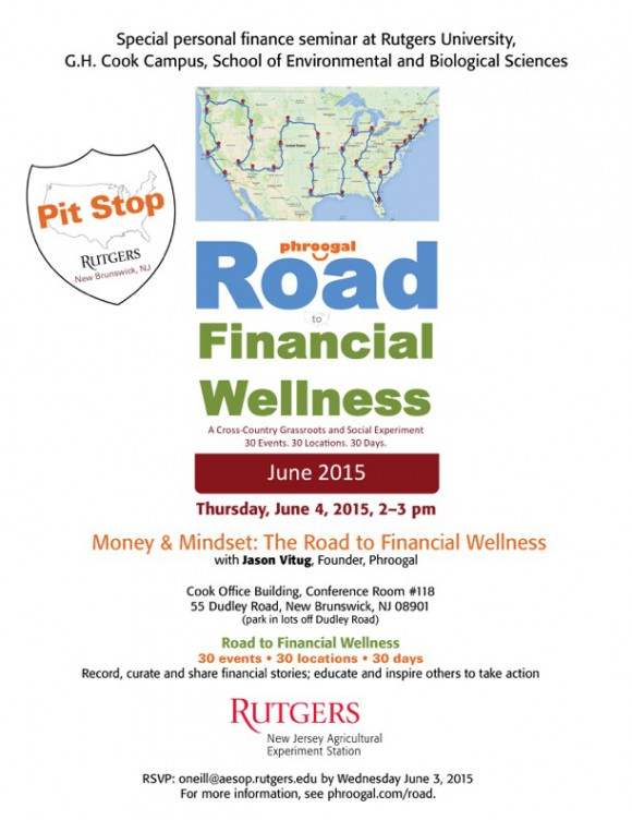 Road to Financial Wellness flyer