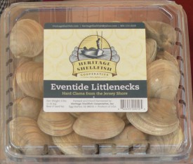 Eventide Littleneck clams from Heritage Shellfish Cooperative will be part of the CSF seafood shares.