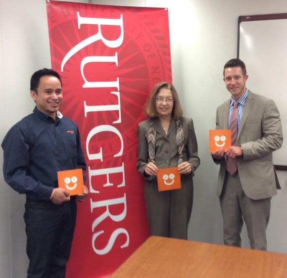 L-R: Jason Vitug, Barbara O'Neill and Aidan Sander, staffer at NJ Coalition for Financial Education.
