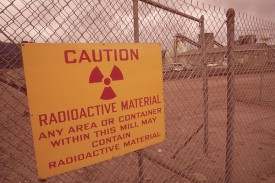 Sign at shuttered uranium mill in Rifle, Colorado where bacteria were identified.